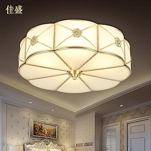 Zqww Ceiling lamp Cu tutti colazione continentale calda luce soggiorno camera da letto balcone la velocità della luce lampada da soffitto studiare la metà delle lampade di bronzo , la metà del diametro di 46)