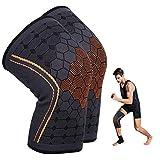 KEAFOLS Knieschoner Kniebandage 2-teiliges Set Unisex Knie-Sportbandage Knieschützer Knieorthese Stabilität und Unterstützung beim Sport Outdoor und Fitness MEHRWEG