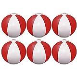 eBuyGB 1304305–6aufblasbar Farbe beach Ball Spiel, rot, 9Zoll