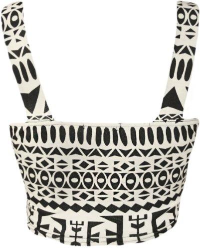 WearAll - Bustier Imprimé Aztèque Tribal Top - Hauts - Femme - Tailles 36-42 Aztec