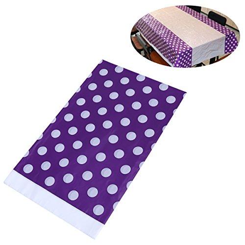 BESTOYARD Cubierta de Mesa desechable del Mantel plástico de la Fiesta de cumpleaños 108 x 180 cm (púrpura)