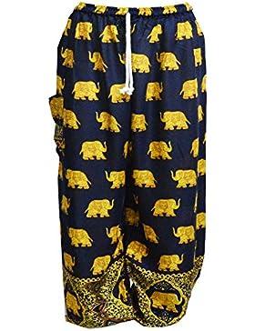 Mr.Bangkok Harem Pantalones - Pantalones Aladdin Hippie con cordón de la cintura
