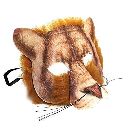 Kostüm Einfach Lion - Realistisch Gesicht-maske Buchwoche Tier Zoo Dschungel Wald Creature Karneval Gesichtsmaske für Erwachsene und Kinder - Lion