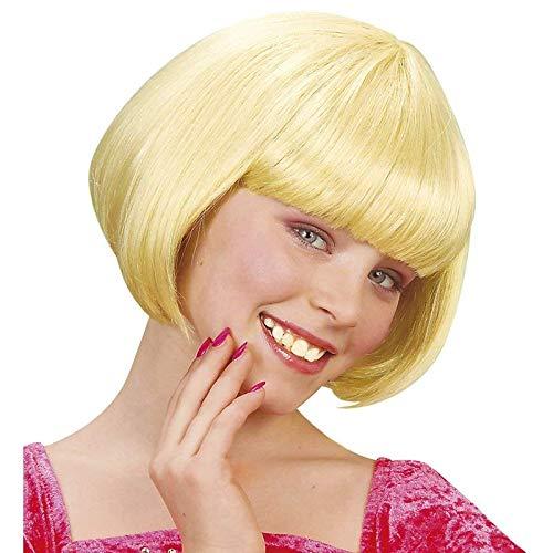 Lively Moments Kinderperücke / Perücke / Wig Jenny Pagenschnitt in blond / Fasching Kinder Kostüm Zubehör