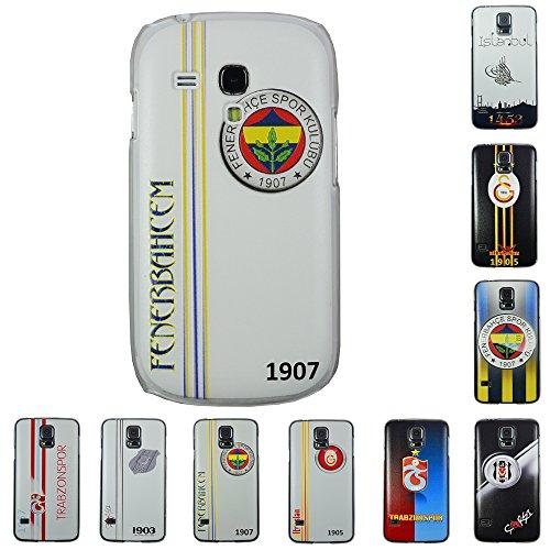 Für Samsung Apple iPhone Galatasaray Fenerbahce Besiktas Trabzon Back Case Apple iPhone 4 - 4s Galatasaray Logo Fenerbahce Weiss + Displayschutzfolie