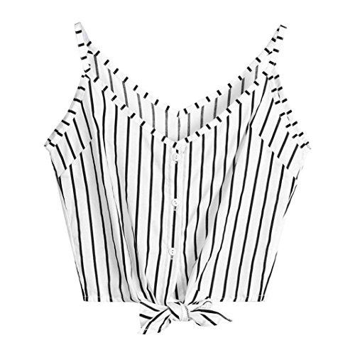 TUDUZ Sommer Damen Spitze Patchwork Armelloses Crop Top Weste Tank Basic Shirt Oberteile (S, Y-Weiß) (Primos-logo-cap)