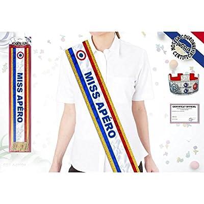Echarpe de Miss Tricolore 'Miss Apéro'