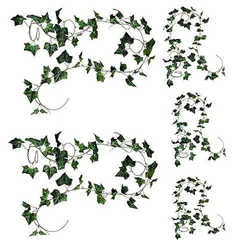 Natural Home Hängende Deko Blumen 275cm Efeu Efeuranke Künstliche Pflanze Neu (5Stck)