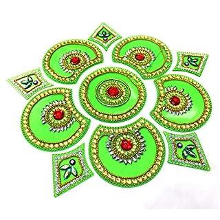 AMBA HANDICRAFT Rangoli/Home Decor/Diwali / Gift for Home/Interior Handcrafted/Floor Stickers/Wall Stickers/Wall Decoration/Floor Decoration/New Year Gift/Party. Rangoli 66