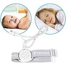 TEQIN Alarma con Todas las Funciones para Niños, Sensor de Alarma de Eneuresis de Última Generación con Sonido y Vibración, para Aprendizaje del Uso del Indodro para Niños y Niñas (Blanco)