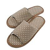 TWINS Fashion « Valencia » schöne & süße Damen-Hausschuhe I Latschen I Pantoffeln I Slippers - Plüsch Baumwolle rutschfest - diverse Farben (38/39, Braun)
