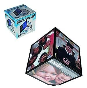 Élégant cadre Photo Cube/Photo tournant rotatif Multi Photos/Images, idée cadeau pour un anniversaire, Noël, la fête des mères, fête des pères