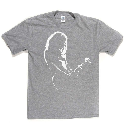 Slash Backlit British-American Rock Guitarist T-shirt Ash Grey