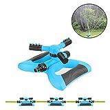 Aolvo [Best Rasensprenger] 360Automatische Sprinkler Drehbar Sprinkler Rasensprenger Garten Schlauch Stylischer mit 3Arm Spritzen, benutzt für Garten, Hof, Outdoor Rasen, die Große Flächen