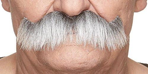 Mustaches Selbstklebende Fälscher Schnurrbart Neuheit Rocking grundpa's Falsch Gesichtsbehaarung Kostümzubehör für Erwachsene Grau mit Weißer Farbe