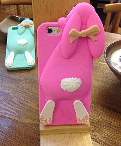 [Anti-Scratch Series] TPU Bumper avec Soft TPU Shell Back Case for IPhone 5 5S/iPhone SE Coque?Vandot TPU Silicone Housse pour IPhone 5 5S/iPhone SE Coque Étui Case Cover + Plastique de Pliable Suspen Lapin-Rouge