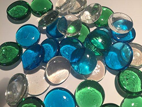 Blau, Grün & Klar Glas Deko Pebble Steine–Aquarien Floral Kerze zeigt Hochzeit Weihnachten Crafts