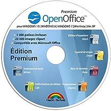OpenOffice Édition Spéciale pour Windows 10-8-7-Vista-XP | Logiciel pour PC et manuel d'utilisation au format PDF | Alternative à Microsoft Office | Compatible avec Word, Excel et PowerPoint