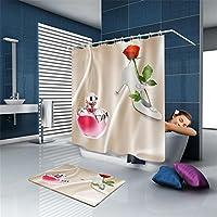 YLSFWSRY Cortinas de baño cortina 2017 de ducha personalizada rosas tacones altos de perfume tejido natural moderna ducha baño de baño decoración de impermeables , 180*220cm