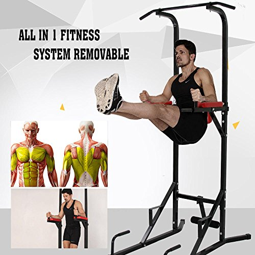 minifair Multi Function Black Gym Power Tower Power Cages Dip Stands
