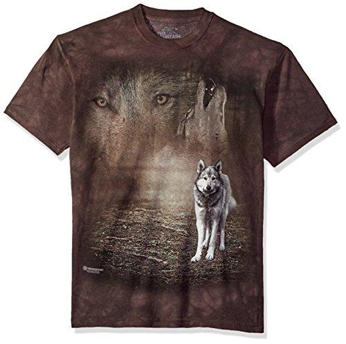 Grey Bekleidung Für Erwachsene Tee (The Mountain Herren Grey Wolf Portrait T-Shirt, grau, XX-Large)