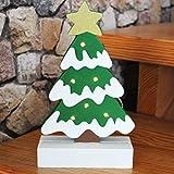 Kamaca Holz - Dekoration - ca. 18 x 23 cm - Leuchtende energiesparende LED -Technik - batteriebetrieben - Ein Schmuckstück in Jedem Raum - Winter Advent Weihnachten (Motiv B : Weihnachtsbaum)