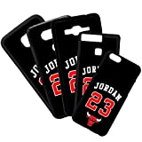 Funda de Movil Carcasa de Moviles Fundas Carcasas de TPU Compatible con el movil Samsung Galaxy S6 Edge Plus Michael Jordan 23 Baloncesto Color Negro
