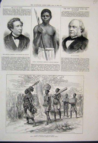 Schizzo 1876 del Servo di Dana Lethenby dell'Uomo di Medicina di Murua