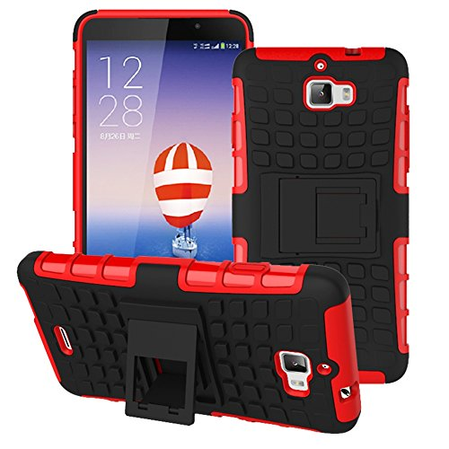 Heartly Flip Kick Stand Spider Hard Dual Rugged Armor Hybrid Bumper Back Case Cover For Micromax Canvas Nitro A310 A311 Dual Sim - Hot Red