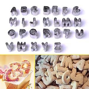 BOXCUTE Lot de 37 Moules Lettre Chiffre Découpoirs Pour Biscuit Pâte à Sucre Déco Gâteau
