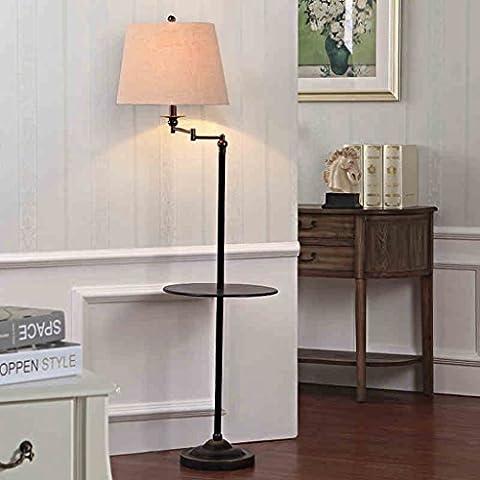 Lámpara de pie americana Norte de Europa Simple y moderno Salón Dormitorio vertical Mesa de centro Mesa de centro Sofá cama Lámpara de mesa sin fuente de