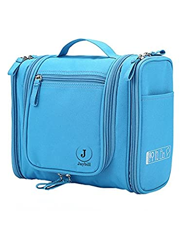 Hanging Travel Toiletry Bag For Men & Women - Durable Hanging Hook, Premium Quality Nylon, Perfect For Makeup and Cosmetics, Personal Items, Shampoo, Body Wash, Airlines, Camping,