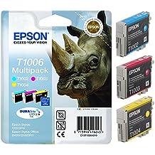 Epson C13T10064010 - Pack de cartuchos de tinta (3 unidades), cian, amarillo y magenta