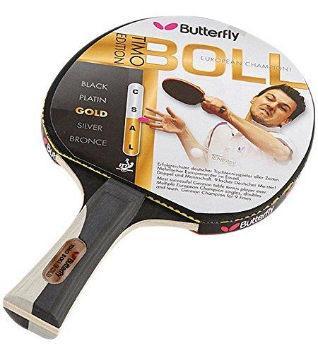 Butterfly Tischtennisschläger Timo Boll Gold, schwarz-gold, 85020 (Butterfly Timo Boll Schläger)