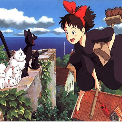 Hexe Kiki Kostüm - Halloween Hexe Hauptverkehrs Kiki COS Hayao Miyazaki kleine Hexe Kiki Cosplay Kleid