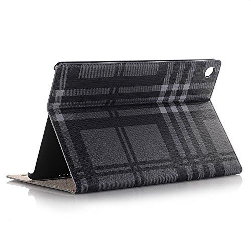Tasche für Huawei MediaPad M5 10,8 Zoll,Luxus Buch Style Folio PU-Leder Smart Feature Slim Fit Ultra Thin Leichte Schutzhülle Case Cover mit ID-Halter & Kartensteckplätze für Huawei MediaPad M5 10.8 Leder-style-schutzhülle