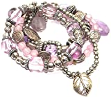 Sansar India Amethyst Purple Pink Silver...