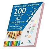 Dohe 30191 Lot de 100feuilles de papier Format A4 Rose pastel 80g