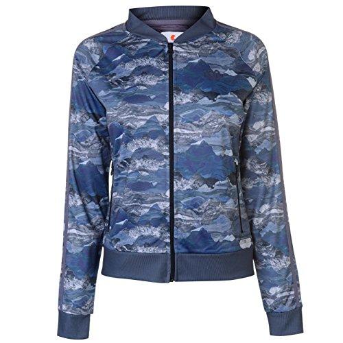 SoulCal Damen Camo Trainingsjacke Bomberjacke Blau S (Camo Regen-jacke Für Frauen)