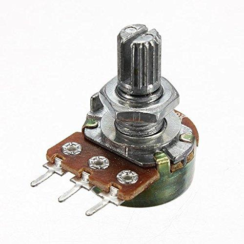 Bluelover 1 2 5 10 20 50 100 250 500 1000K Ohm Potentiometer Single Linear -5K