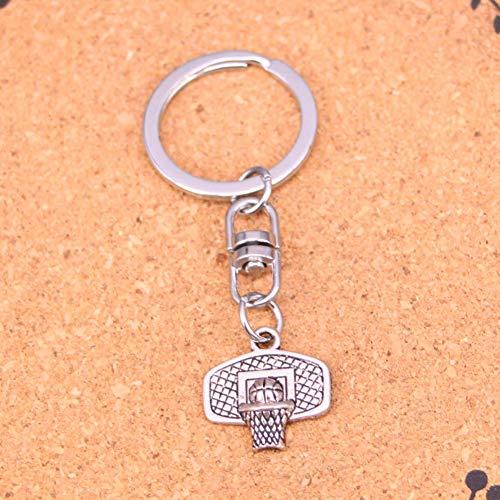 JJCDKL charmante Silberfarbe MetallBasketballkorb Schlüsselanhänger Zubehör & verchromte Schlüsselanhänger