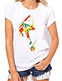 Y Amazon Blusas Camisas es Blanco Camisetas Futbol wxc4SqCvX