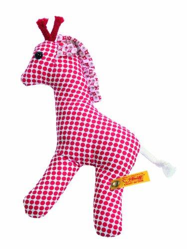 Steiff 235962 - Bendy Giraffe Rassel 12 cm,rot