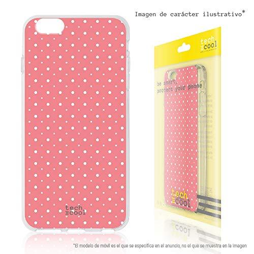 Funnytech¨ SchutzHŸlle Soft TPU Silikon HŸlle Transparent fŸr Sony Xperia Z5 l Case, Cover, Handy, High Definition Druck [Fondo rosa lunares]
