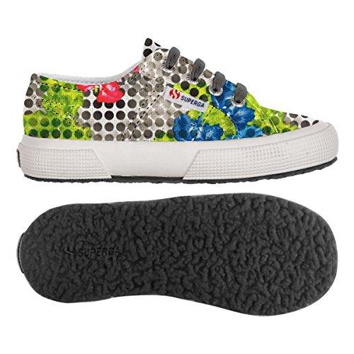 Chaussures Le Superga - 2750-fabricfanplj - Bambini OPTICAL FLOWER BLACK