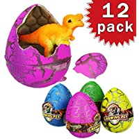 RUNFON Lote de 12 huevos de dinosaurio dragón eclosión Dino en juegos infantiles de agua mágica juguete para Semana Santa