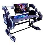 E-Blue EGT546BKAA-IA Gaming-Station 2 in 1 – Schreibtisch RGB LED + Barebone