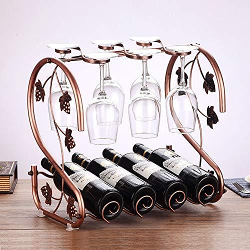 Zzsyso 2 Form Multifunktions Weinregal Eisen Flasche Becher Vitrine Hohe Glas Home Hängenden...