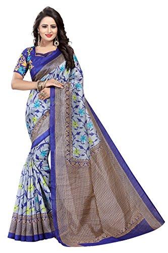 Kanchan Women's Silk Saree (Blue)