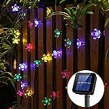50 LED Solar String Lights Panpany 22 feet Flower Bulbs Solar Garden Lights Waterproof Decorative Lighting Fence Lights for Christmas,Garden, Patio, Yard, Home, Party